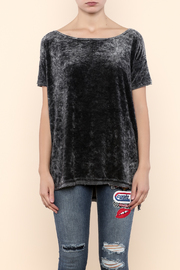 Free People Velour Boxy Tee - Side cropped