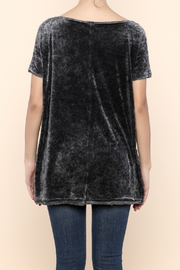 Free People Velour Boxy Tee - Back cropped