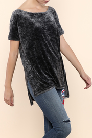 Free People Velour Boxy Tee - Front cropped