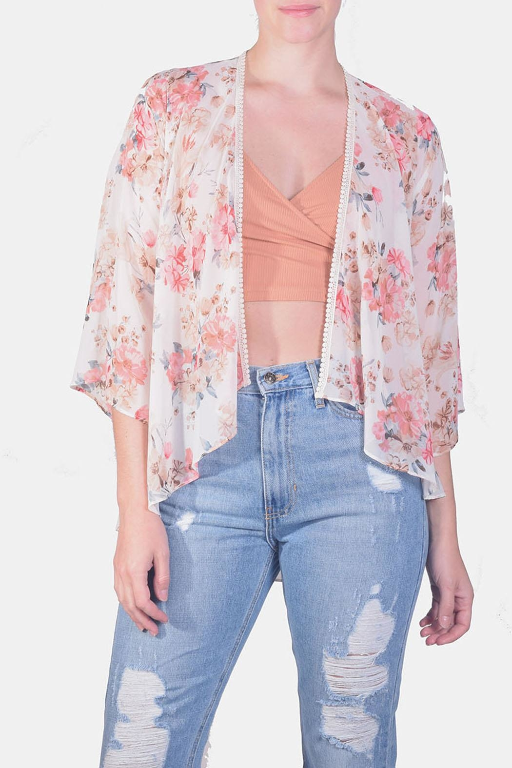 Miss Love Free-Spirit Embroidered Kimono - Main Image