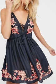 Free People Midnight Blue Embroidered Dress - Product Mini Image