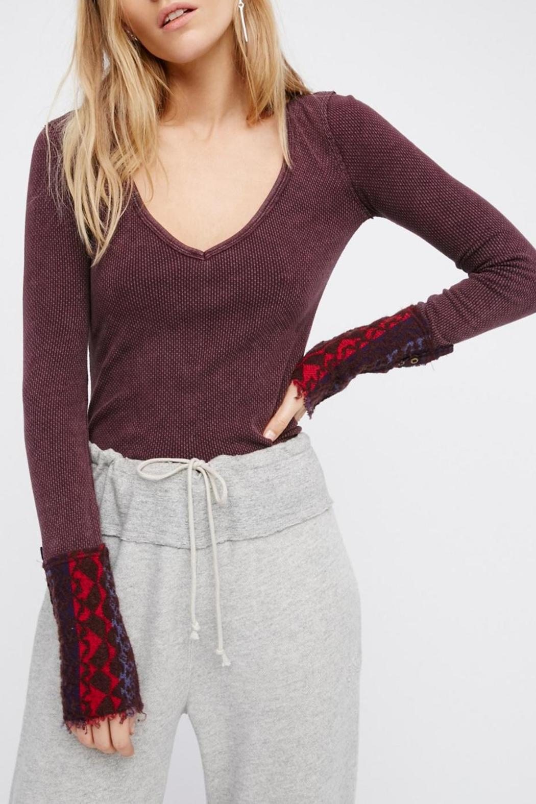 Free People Art School Cuff Top - Front Full Image