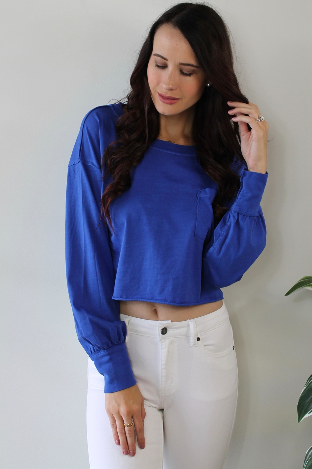 Free People Austin Pullover Tee - Front Cropped Image