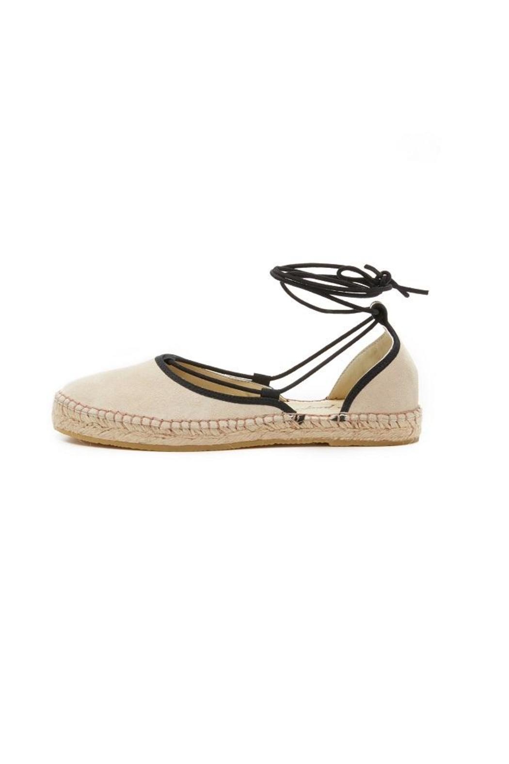 Free People Beige Flat Espadrille - Front Cropped Image