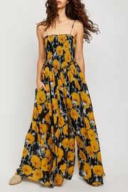 Free People Black Floral Jumpsuit - Front cropped