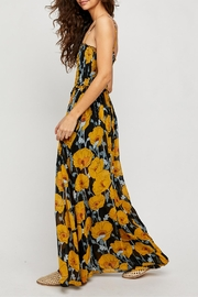 Free People Black Floral Jumpsuit - Front full body