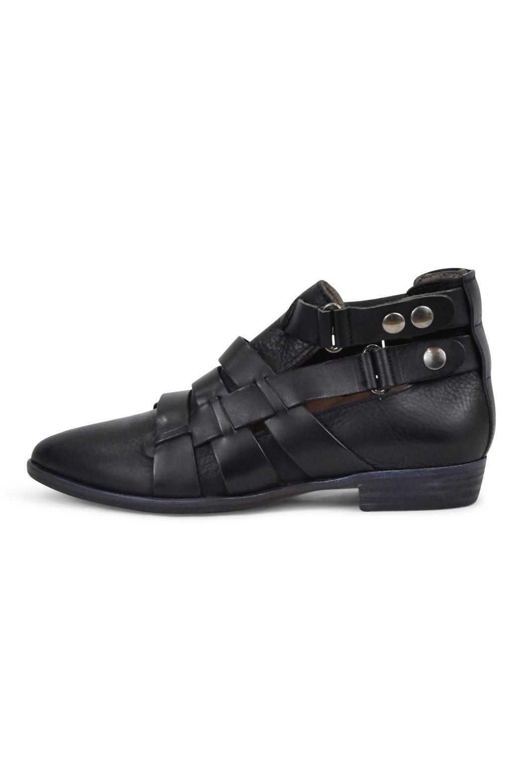 Free People Black Leather Bootie - Main Image