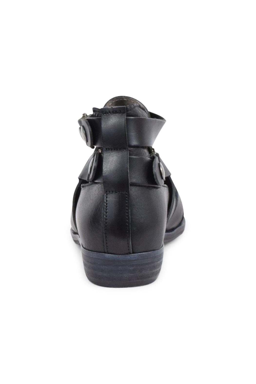 Free People Black Leather Bootie - Front Full Image