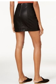 Free People Black Leather Skirt - Front full body