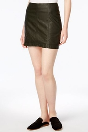 Free People Black Leather Skirt - Front cropped