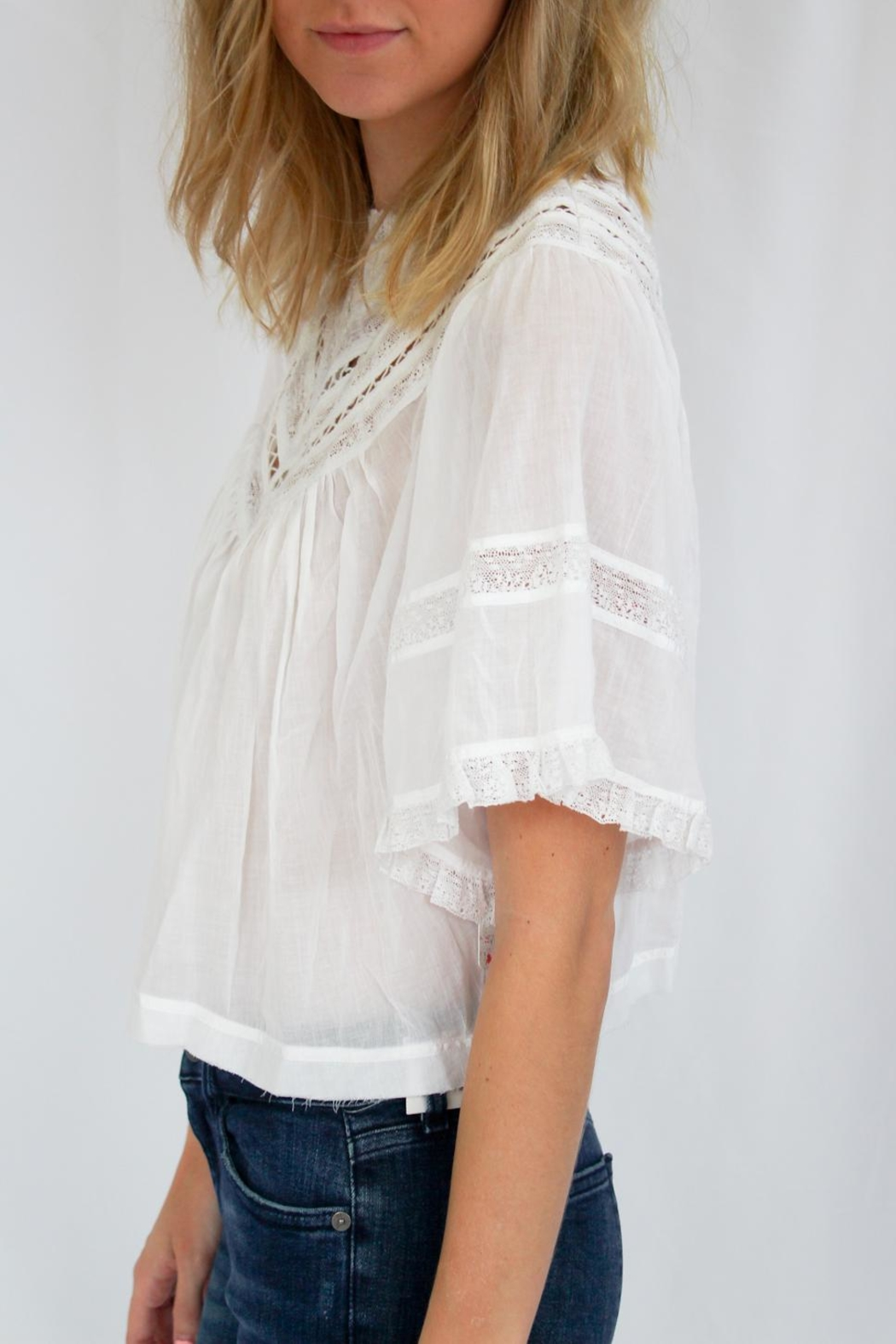 Free People White Summer Top - Front Full Image