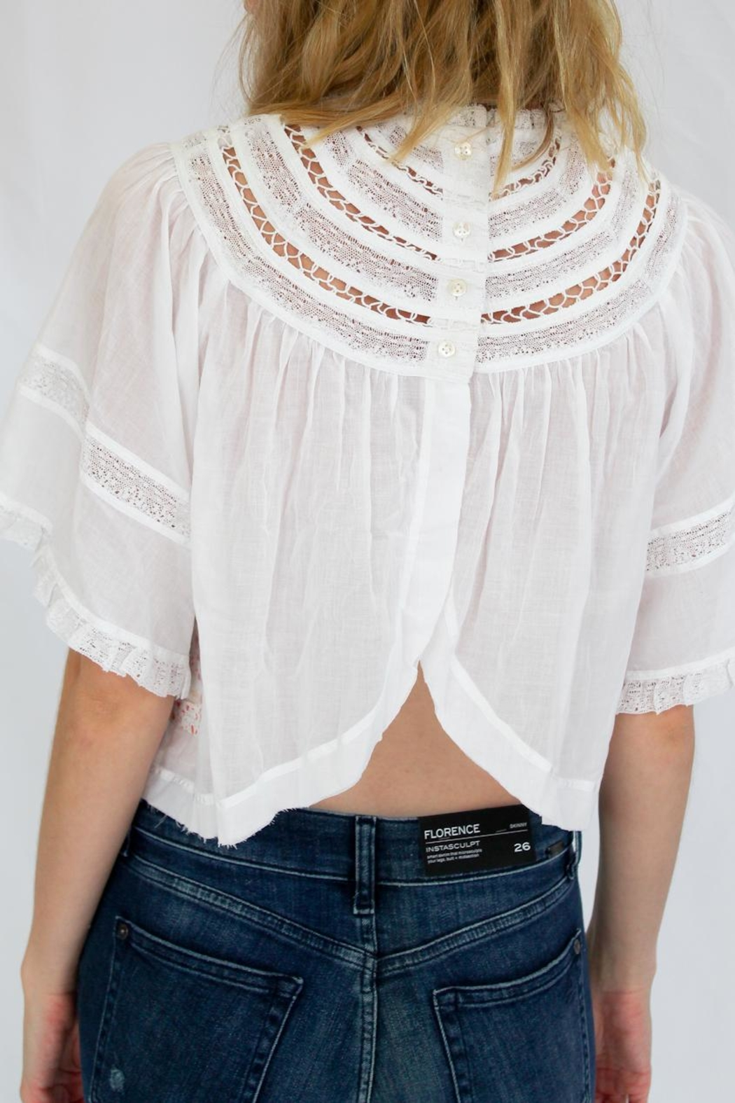 Free People White Summer Top - Side Cropped Image