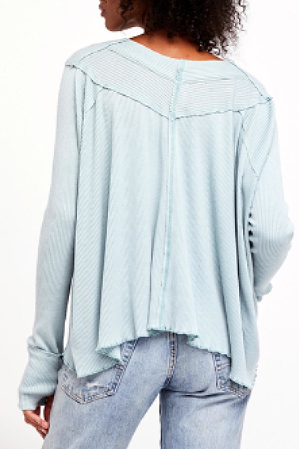Free People Blue Oceanview Top - Front Full Image