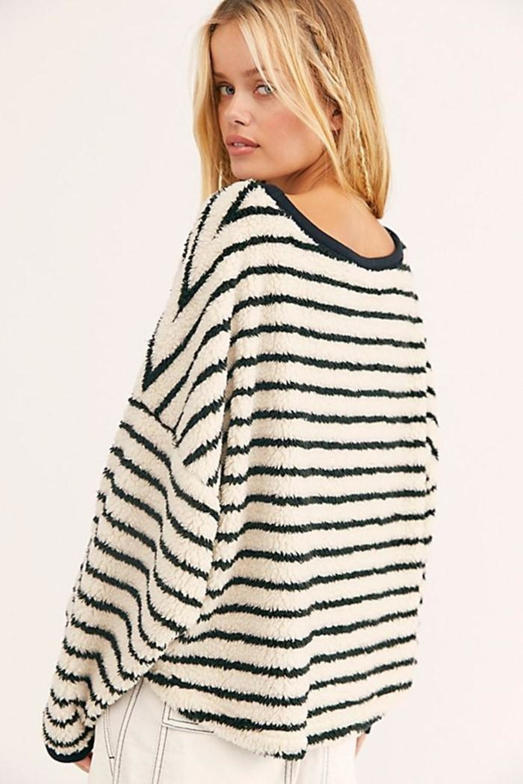 Free People Breton Striped Pullover - Front Full Image