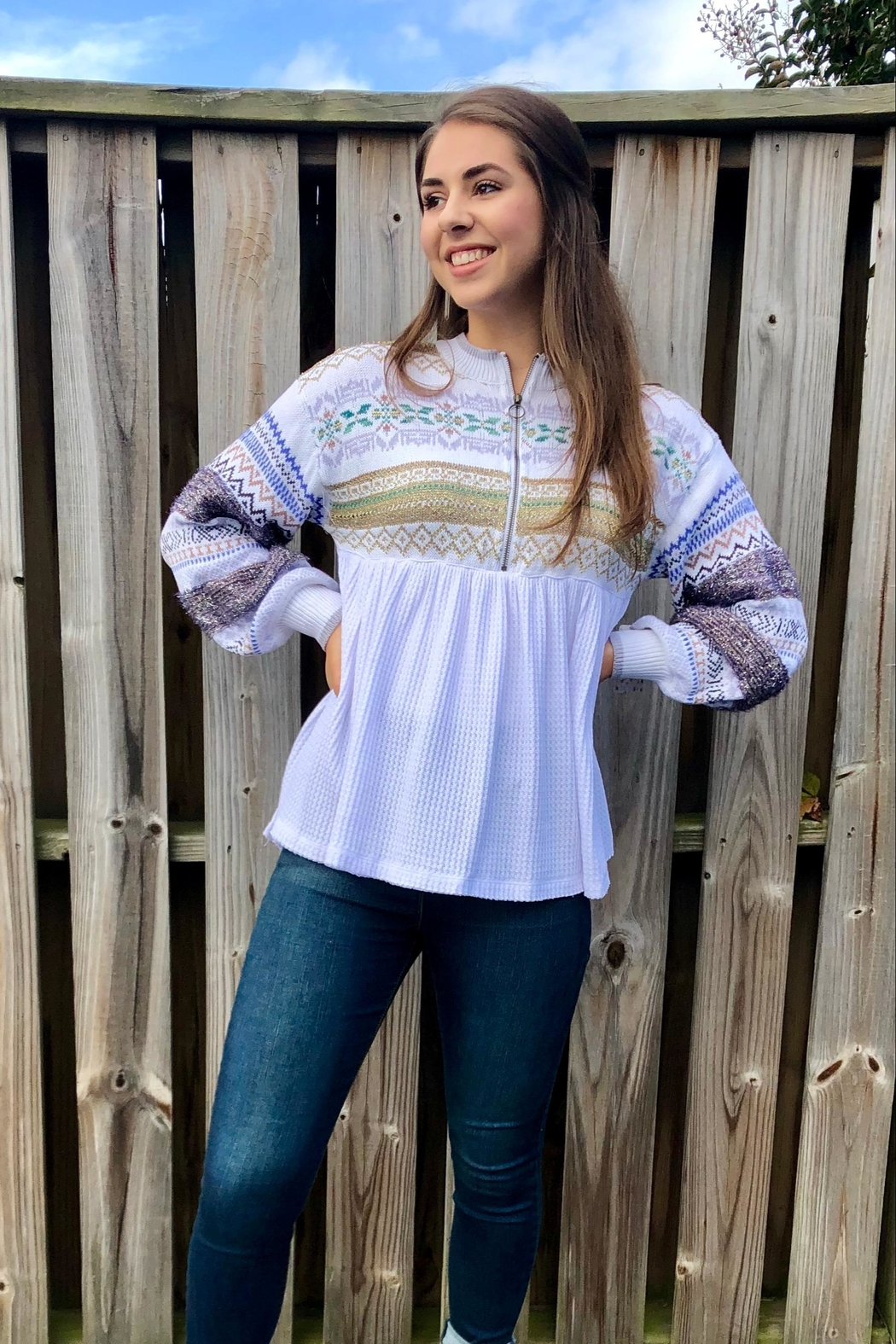 Free People Cabin Fever Top - Front Full Image