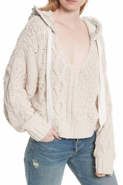 Free People Cable Knit Hoodie - Front full body