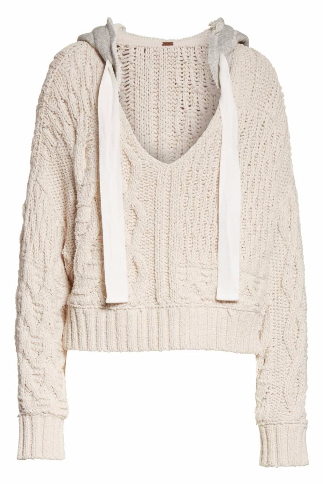 Free People Cable Knit Hoodie - Main Image