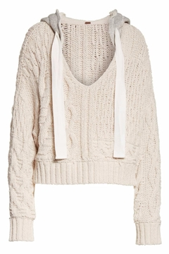 Free People Cable Knit Hoodie - Product List Image