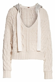 Free People Cable Knit Hoodie - Product Mini Image