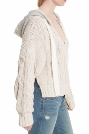 Free People Cable Knit Hoodie - Side cropped