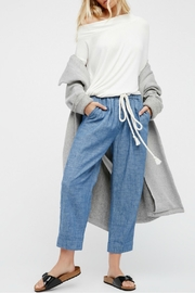 Free People Chambray Pull On Pants - Product Mini Image