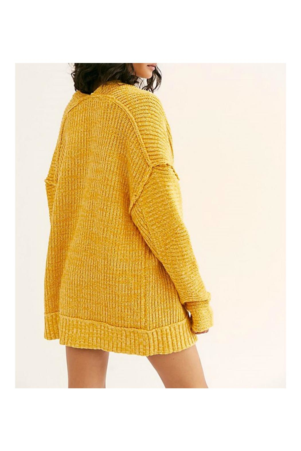Free People Chunky Cardi Sweater - Front Full Image