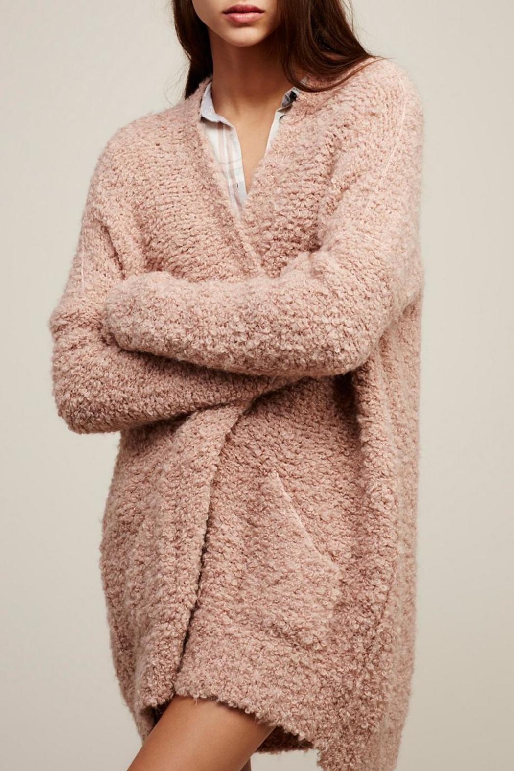 Free People Chunky Pink Boucle Cardigan from Canada by Ragdolz ...