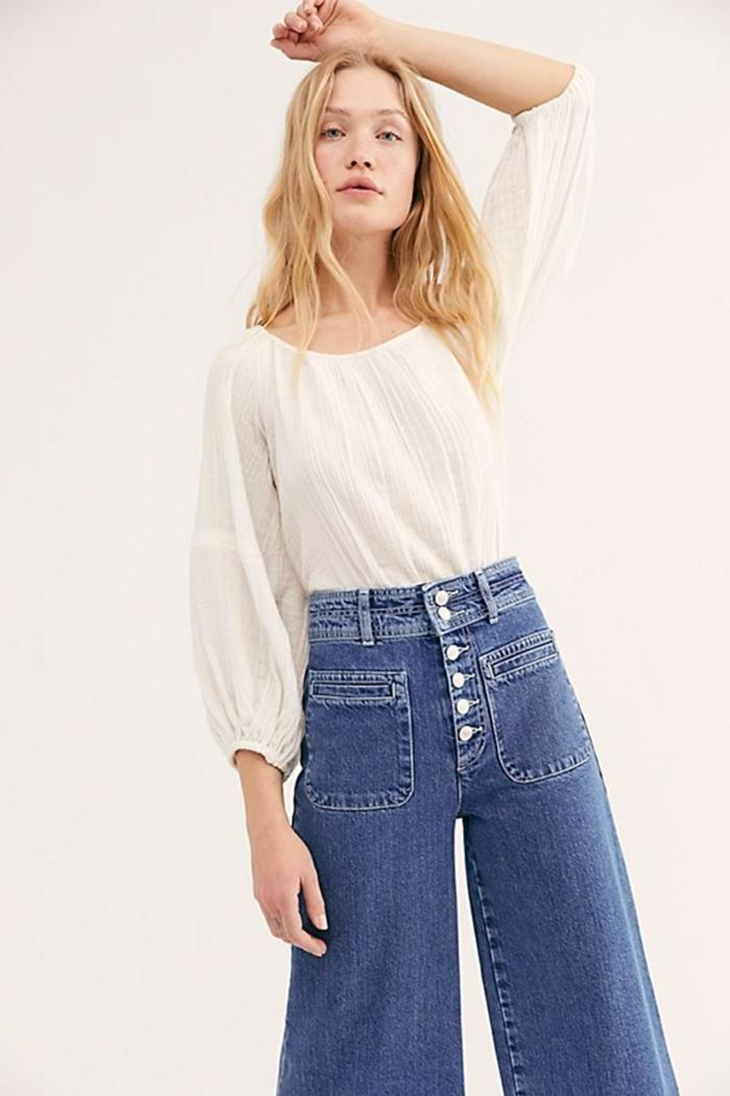 Free People Colette Wide Leg - Side Cropped Image