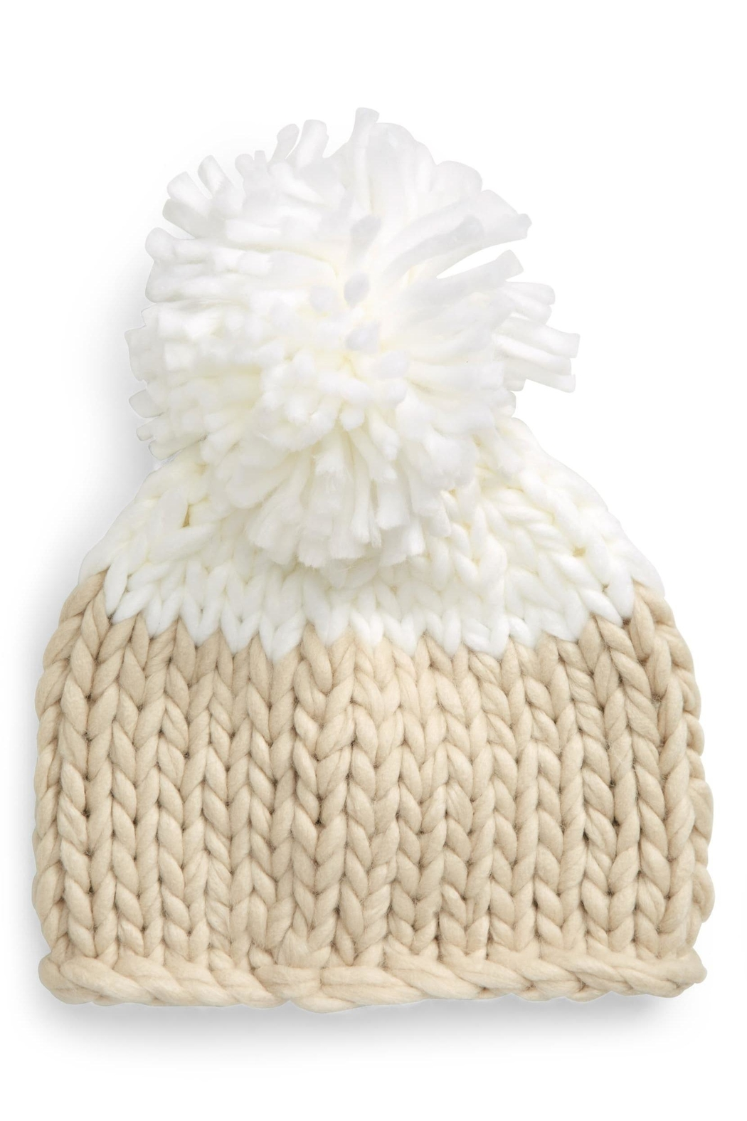 Free People Colorblock Pom Beanie - Main Image