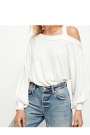 Free People Cotton White Tee - Product Mini Image