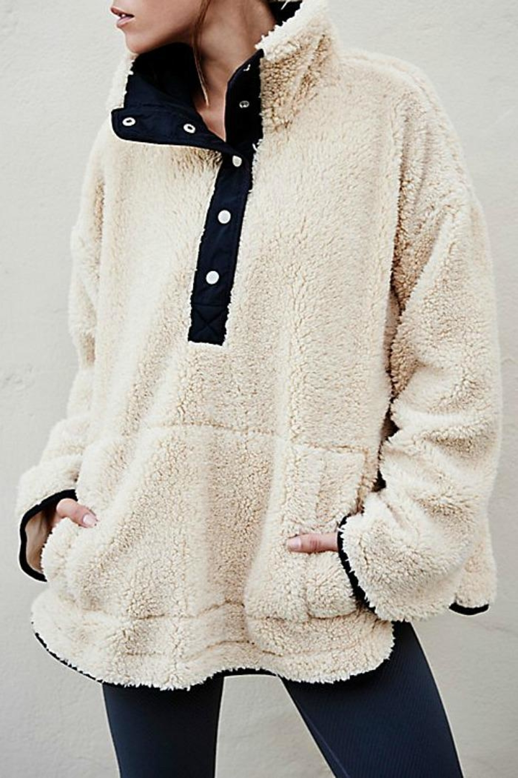 Free People Cozy Snapped Pullover - Main Image