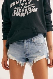 Free People Cut-Off Denim Shorts - Front cropped