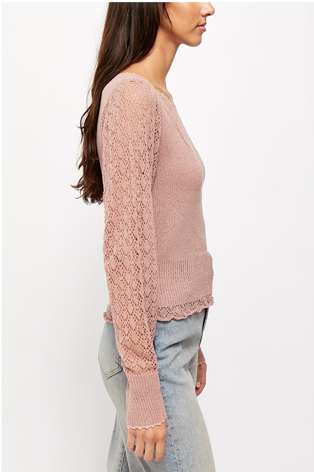 Free People Cyrstallized Sweater - Front Full Image