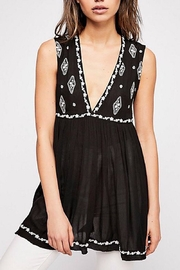 Free People Diamond Embroidered Top - Front cropped