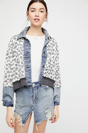 Free People Ditsy Denim Jacket - Front full body