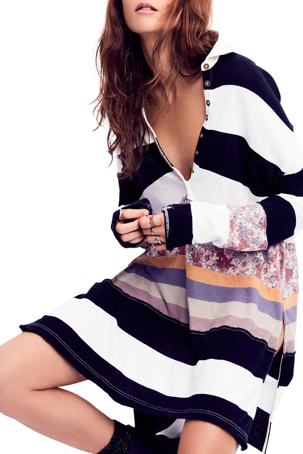 Free People Eloise Stripe Tunic - Front Cropped Image
