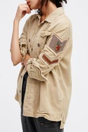 Free People Embellished Military Shirt Jacket - Product Mini Image