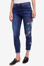 Free People Embroidered Bird Jean - Product Mini Image