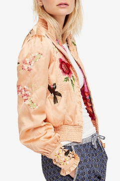 Shoptiques Product: Embroidered Cropped Bomber