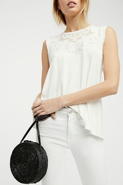 Shoptiques Product: Embroidered Sleeveless Tank