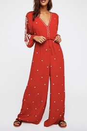 Free People Embroidered V Jumpsuit - Product Mini Image