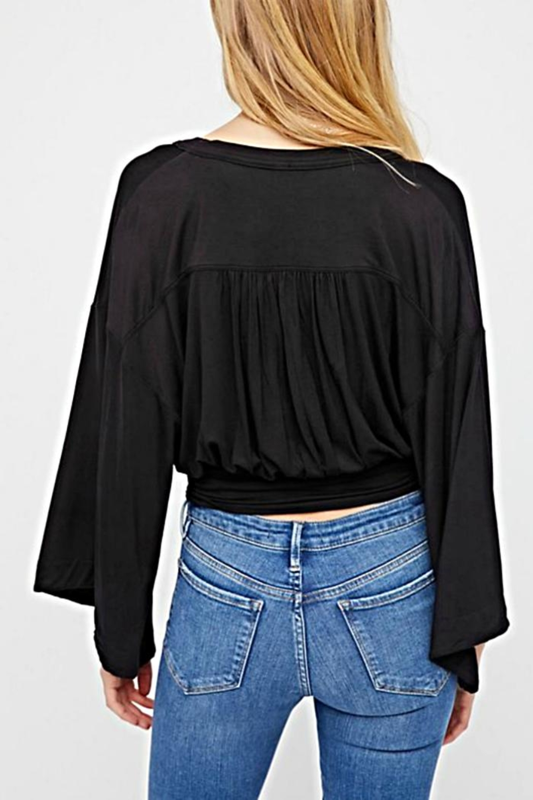 Free People Faux Wrap Top - Front Full Image