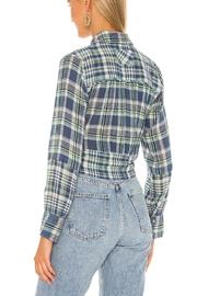 Free People First Bloom Plaid Top - Front full body