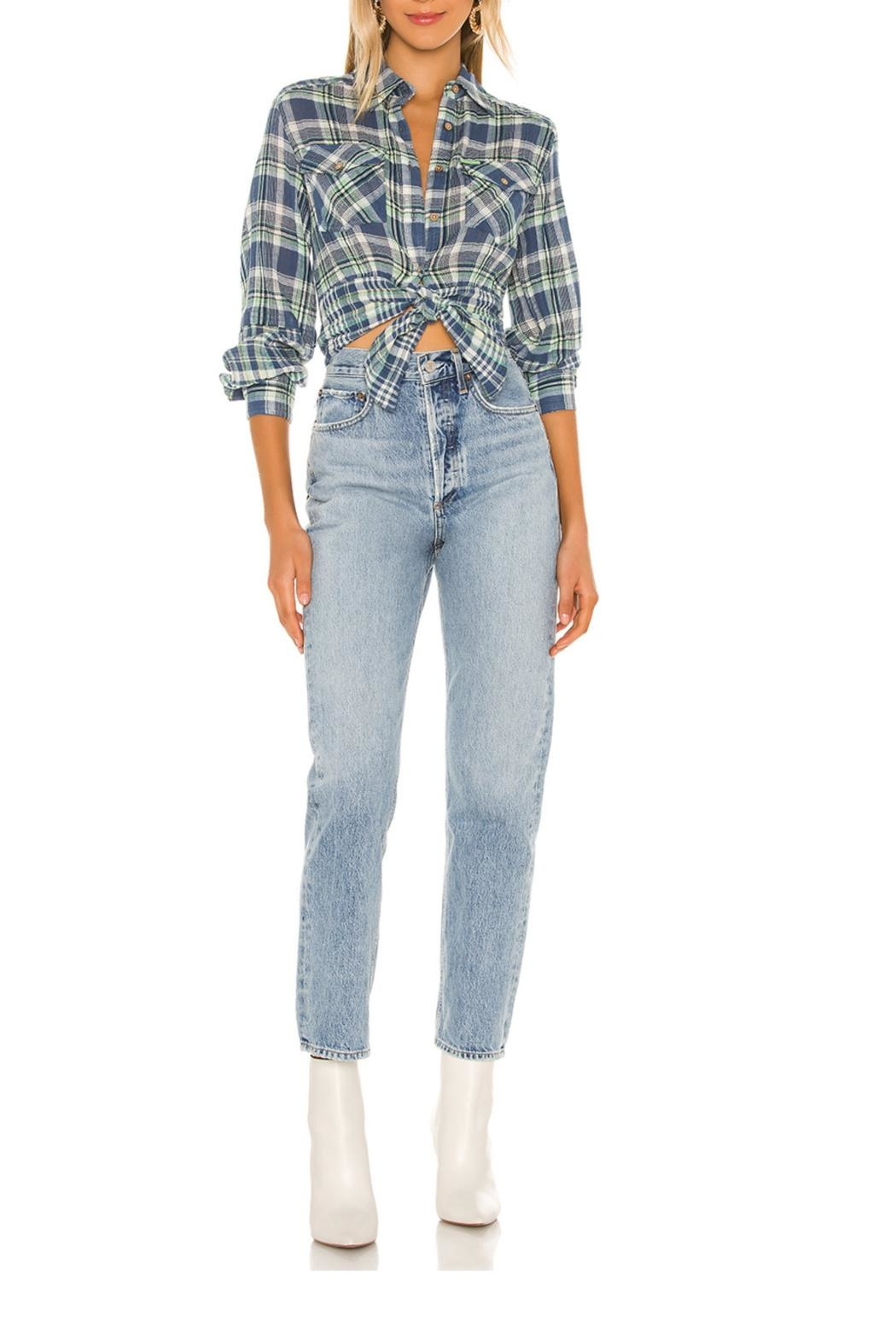 Free People First Bloom Plaid Top - Main Image