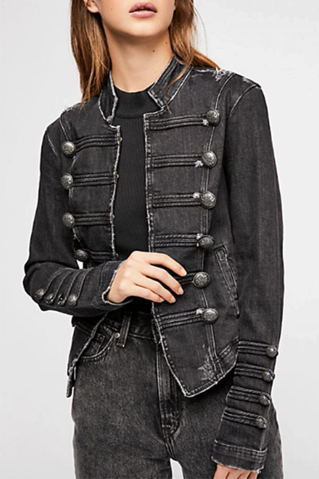 Free People Fitted Military Jacket - Main Image