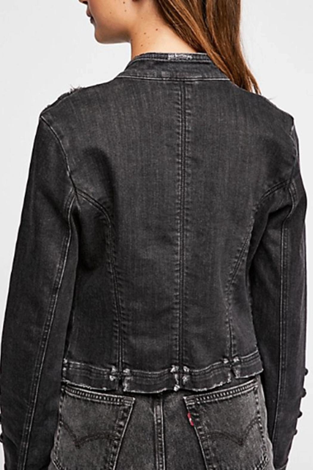 Free People Fitted Military Jacket - Front Full Image