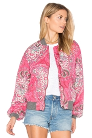 Free People Floral Bomber Jacket - Front cropped