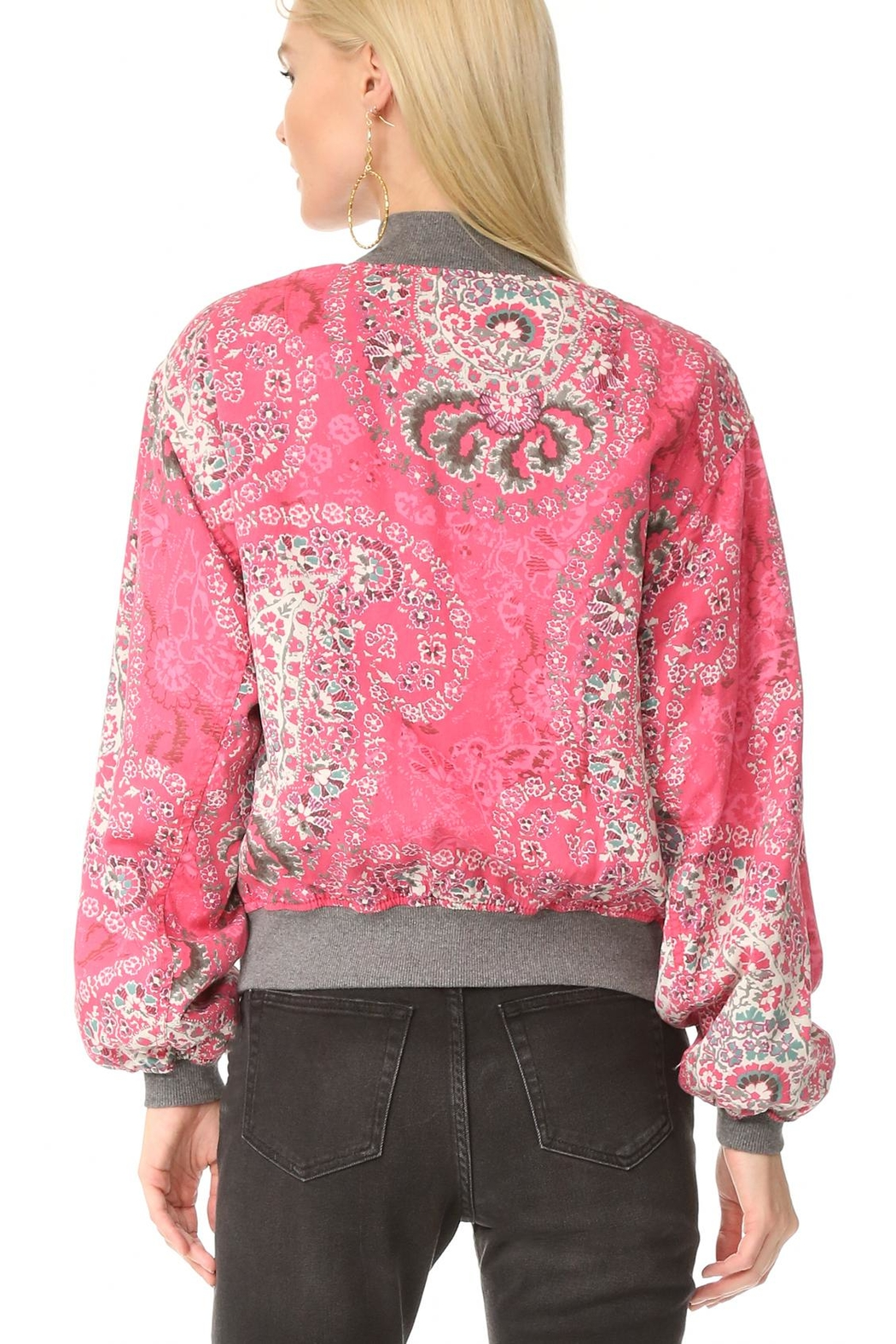 Free People Floral Bomber Jacket - Front Full Image