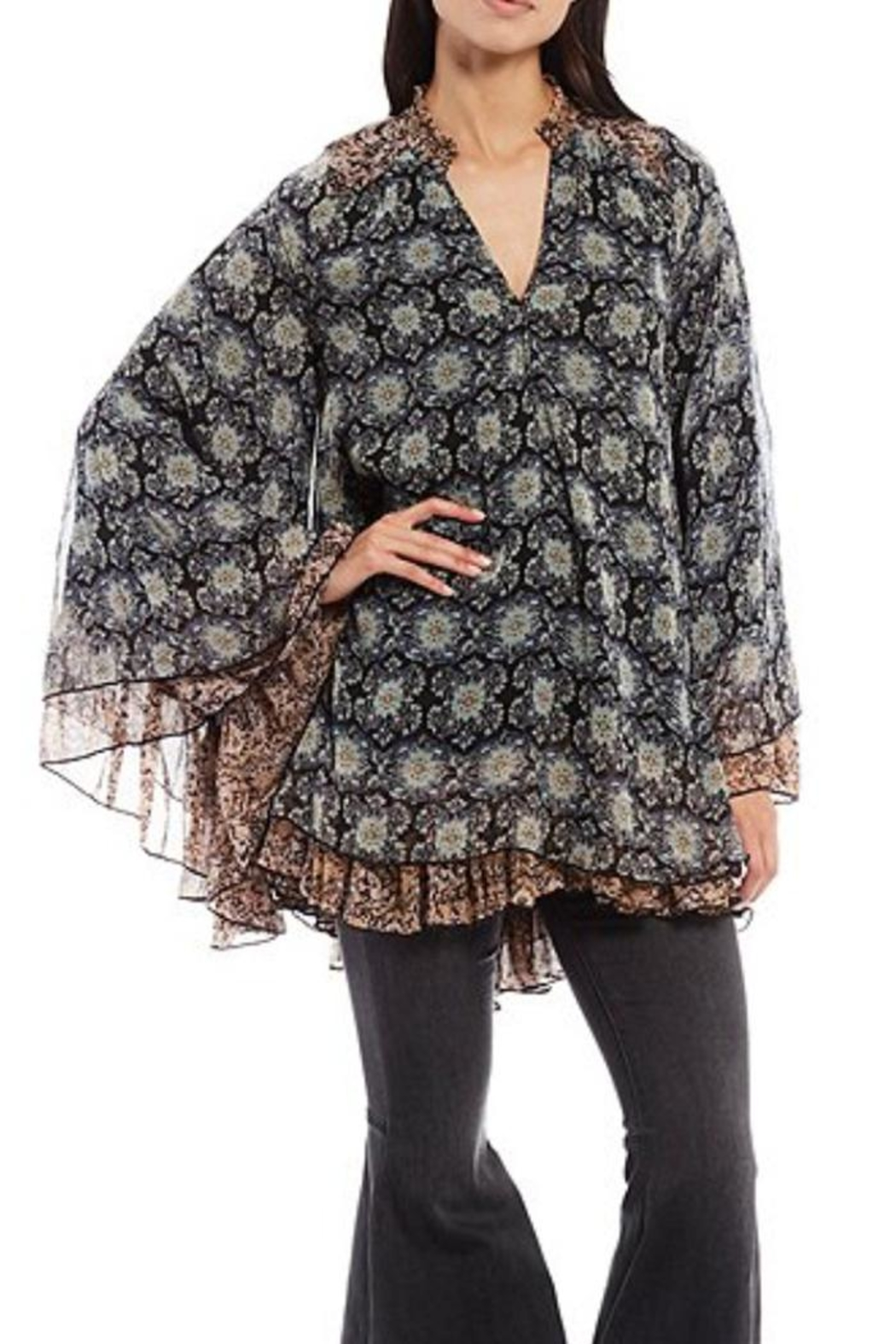 Free People Floral Flowy Tunic - Main Image