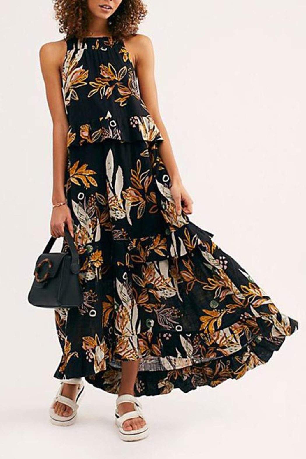 Free People Floral Maxi Dress - Side Cropped Image